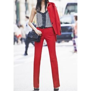 EXPRESS Red Ultimate Double Weave Editor Pant